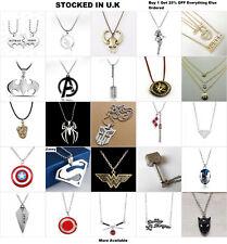 Superhero Jewellery Superman Wonder Women Badge Brooch Necklace Earrings Ring