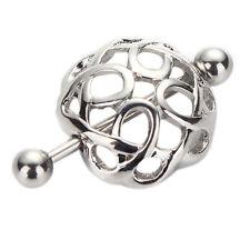 Quirúrgico acero nido pezón escudo barra ombligo anillo cuerpo piercing joyería