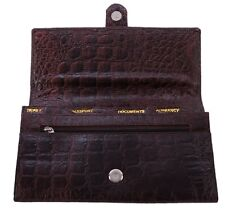Pure Leather Ladies Travel Organiser Passport Ticket Currency Brown Colour