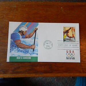 Estate Find - FDC OLYMPICS, Men's Canoeing May 2, 1996 Centennial Games