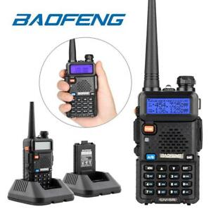 Baofeng UV-5R Walkie Talkie UHF VHF Dual Band Two-Way Radio with Headsets UK