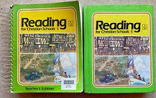 Bob Jones Reading for Christian Schools Book & Teacher Edition Grade 5 BJU 1sted