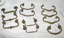 11 Antique Vintage Brass Metal Drawer Pulls 1800 and 1900 for furniture restore