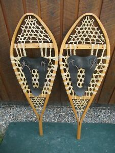 """GREAT SNOWSHOES 41"""" Long x 14"""" Wide with Bindings READY TO USE"""