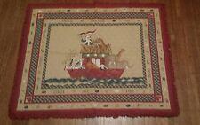 Noah's Arc ruffle unisex baby quilt nursery 35x44**FREE SHIPPING!CLEARANCE SALE*