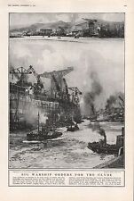 1921 - PRINT-BIG WARSHIP ORDERS FOR THE CLYDE, SCOTLAND,SHIPBUILDING,MILITARY