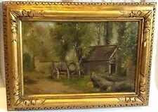 Attr. Hiasel Maier-Erding (1894-1933) Oil Painting on Board Framed Farm Scene