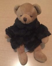 """Russ Tiny Brown Bear with Coat Named Fortuna 7"""""""