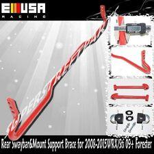 Rear ANTI ROLL SWAY STABILIZER BAR+ Mount Brace fit 08-15 Subaru Impreza WRX STi