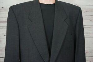 Armani Mani 100% Wool Sport Coat 42R Gray Two Button Windowpane