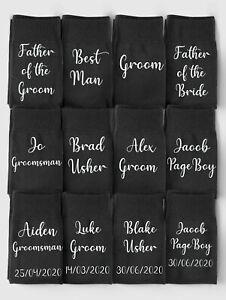 Personalised Wedding Socks, Socks For Groom, Gift For Best Man, Wedding Party
