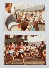 Vintage Marathon Road Race Snapshot Photos 1970s 80s Unknown Race River Street