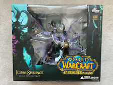 World of Warcraft Illidan Stormrage Deluxe Collector Figure Dc Unlimited Opened