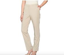 Susan Graver Petite Milano Knit Slim Leg Zip Front Pants. 16 P