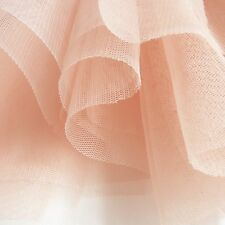 100m Roll of Blush Pastel Peach Pink Soft Tulle Veiling Fabric 150cm Wide