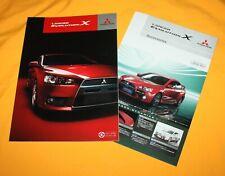 Mitsubishi Lancer Evolution X 2007 Japan Prospekt Brochure Depliant Catalog