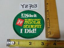 VINTAGE EMBROIDERED PATCH 7-UP SODA UN DO IT TO FIGHT MUSCULAR DYSTROPHY I DID!