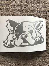 Face Frenchie Puppy Cute Print Vinyl Decal Car Sticker Animal Dog Pet Window
