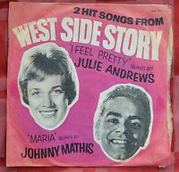 "Julie Andrews I Feel Pretty / Johnny Mathis Maria 7"" West Side Story WB725 – VG"