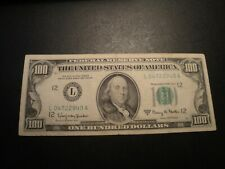 (1) $100.00 Series 1963-A Federal Reserve Note XF Circulated Condition