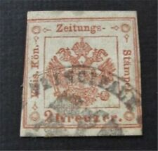 nystamps Austrian Offices Abroad Lombardy Venetia Stamp # Pr2 Used $75