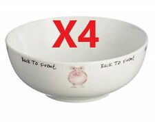 4 X Price & Kensington Back To Front Cereal Bowl 16cm   [5783]