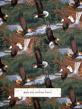 Eagle Bird Fabric ~ 100% Cotton By The Yard ~ Scenic Somerset Point CP51395