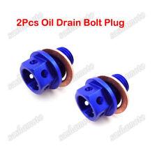 2x Blue Engine Oil Drain Bolt Plug For 50cc 110 125cc Pit Dirt Bike ATV Lifan YX