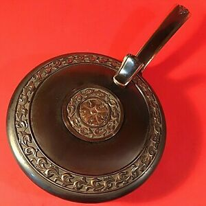 CRUM CATCHER ASH PAN HYDE PARK VINTAGE RARE FLOWER ON TOP COPPER BRASS 10 1/2""