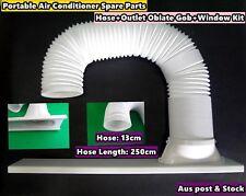 Portable A/C Spare Part Outlet oblate gob+Window Kit+hose 2.50m - 3pc/Set (13cm)