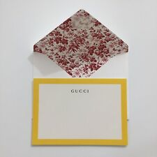 Auth GUCCI Logo Embossed Note Card Postcard w/Envelope VIP NEW Rare Art Print