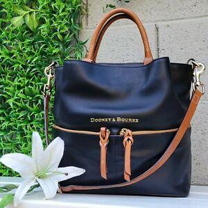 DOONEY & BOURKE City leather DAWSON LRG black Shoulder Handbag Bag purse tote