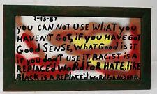 Antique Vintage Folk Outsider Art Americana Sign Painted Signed J. Light