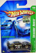 HOT WHEELS 2007 BASIC TREASURE HUNT CORVETTE C6R #04/12 BLACK FACTORY SEALED