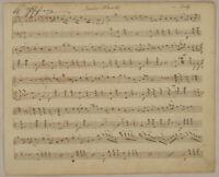LIEDER Marsch NOTEN Handschrift Original Notenblatt um 1850 Tanz Musik singen