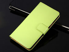 Genuine Leather Flip Wallet Case Cover For Samsung Galaxy Trend Plus GT-S7580