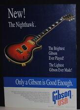 1994 Gibson Nighthawk electric guitar print ad