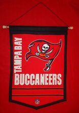 "Vintage Tampa Bay Buccaneers NFL 18"" x 12""  Embroidered Heritage Banner"