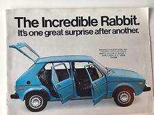 VW Volkswagen 1978 Rabbit Original Sales Brochure