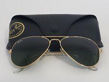 Ray-Ban RB3025 L0205 Unisex Green G-15 Lenses Aviator Sunglasses Gold Frame 58MM