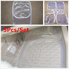 Car Floor Mat Clear PVC Foot Pads Universal Auto All Weather Rugs 5pcs/Set