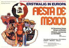 Fiesta de Mexico ORIGINAL A1 Konzertplakat 1970 GEROLLT Mariachis und Marimba