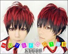 Kuroko's Basketball Kagami Taiga red brown mix Cosplay Short Wig+free wig cap