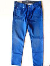7 For All Mankind Herren Jeans Hose, Slimmy The Slim Blau Metal Große; W31, L34
