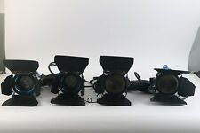 Arri 300 Plus Tungsten Light Kit of 4 With Case and Barn Doors