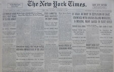 9-1932 September 10 37 DEAD 64 HURT RIKERS ISLAND EAST RIVER BOAT EXPLOSION