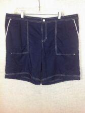 Merona Board Short Navy Blue White Trim Size XL 2 Pocket No Panty 40 x 9