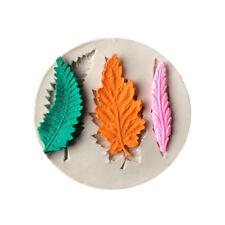 Leaves silicone fondant mold cake decorating tools chocolate gumpaste mould W PQ