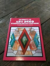 Art Deco Stained Glass Pattern Book by Ed Sibbett Jr. 91 Patterns