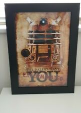 Doctor Who daleks want you exterminated Framed A3 Poster brand new